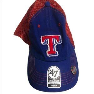 NWT Texas Rangers Trucker Hat '47 brand